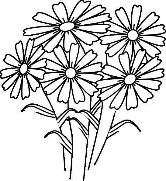 Coloring Book Flowers Clip Art at Clkercom  vector clip