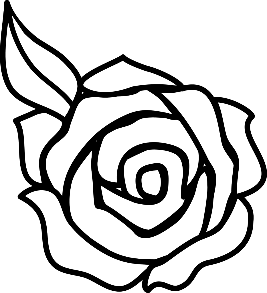 Single Rose Black And White  Clipart Panda  Free Clipart