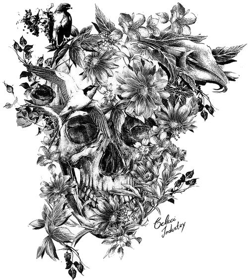 Calavera Sleeve tattoo Skull Blackandgray  Tattoo png