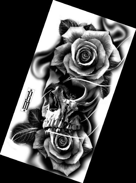 TattooIdeasHombre  Skull rose tattoos Tattoo designs