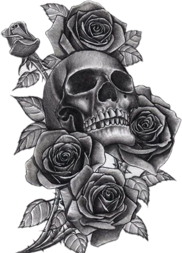 Download Neck Tattoo Png Clip Art Library Stock  Skull