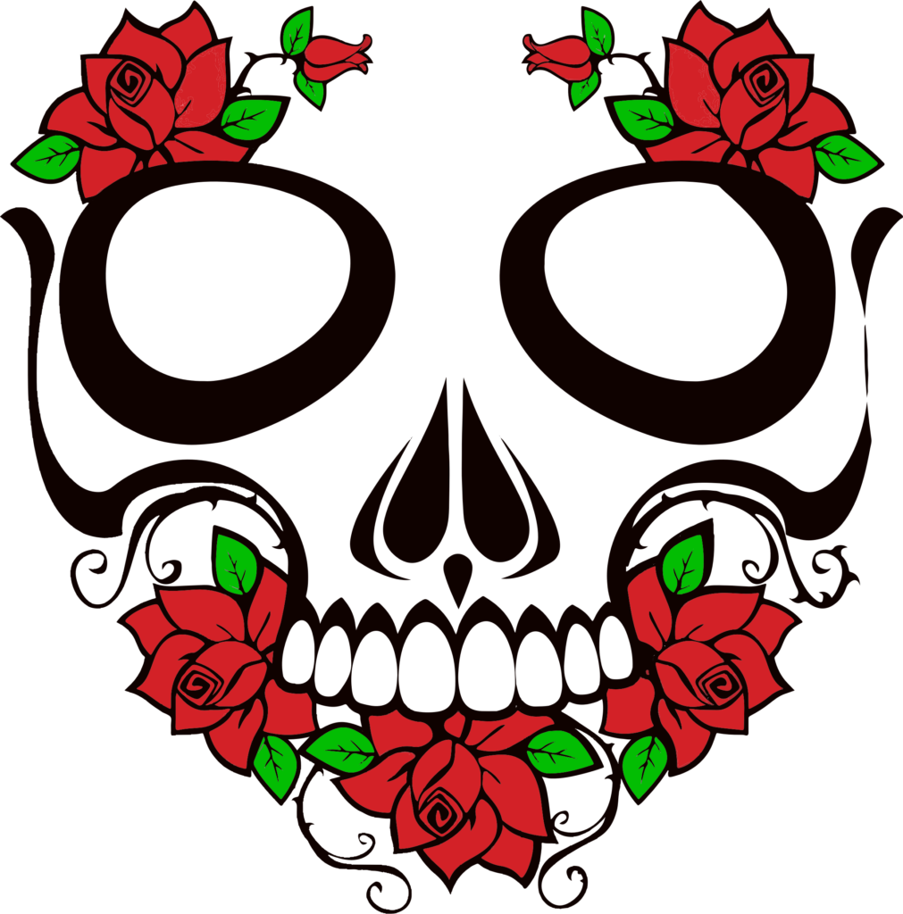 Skull And Roses Clipart  Clipart Suggest