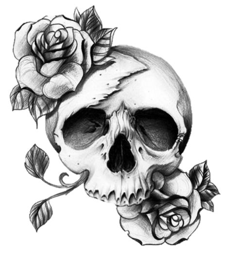 cool skull art  Skull rose tattoos Pretty skull tattoos