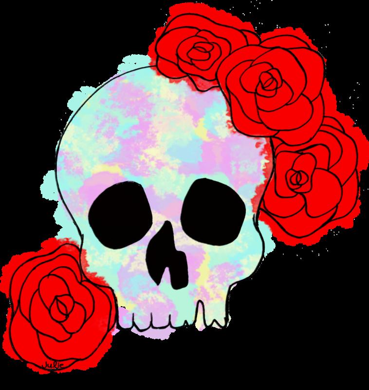 Clipart skull rose Clipart skull rose Transparent FREE