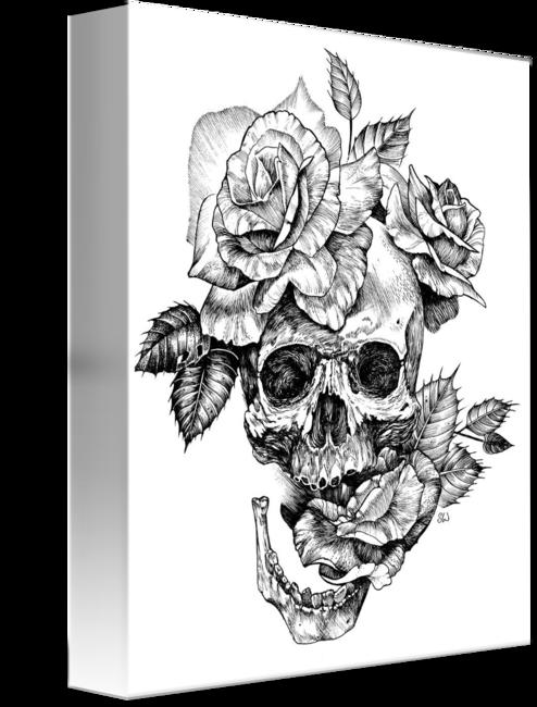 ink skull and roses by Sarah Wilson  Skull rose tattoos