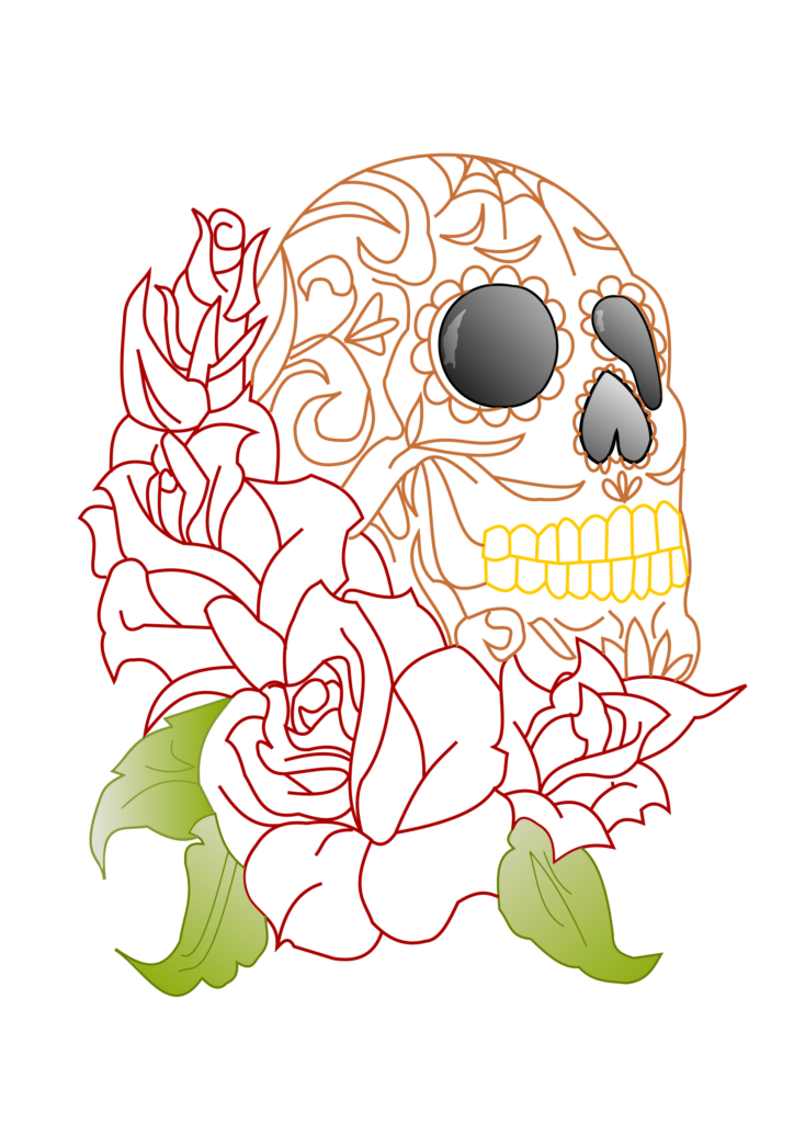 Skull and roses clipart collection  Cliparts World 2019