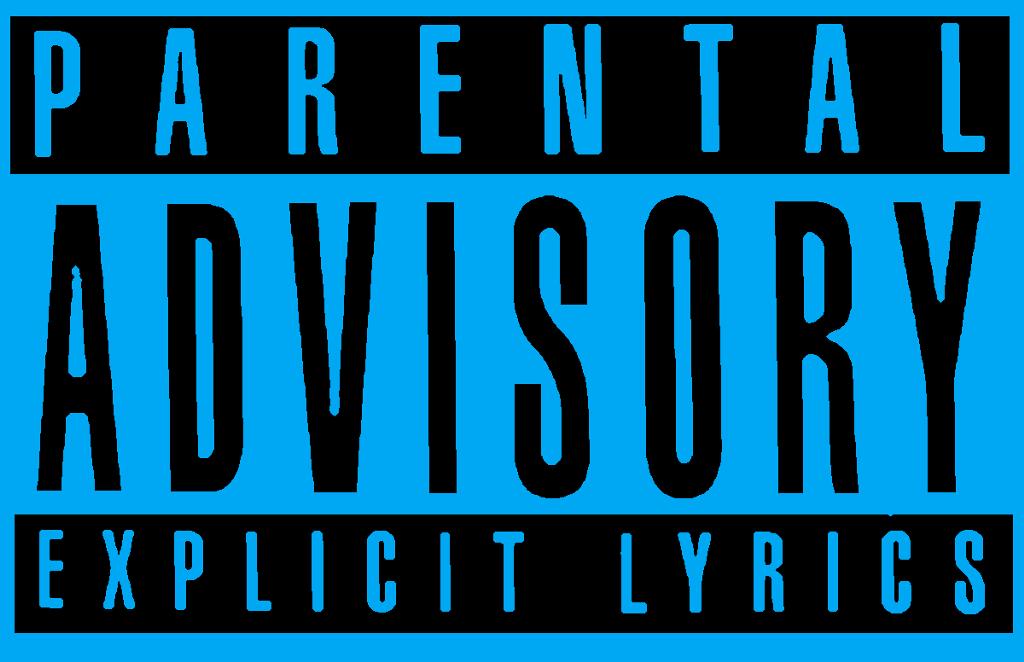 Blue Parental Advisory Png  Free Blue Parental Advisory