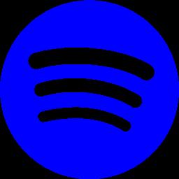 Blue spotify icon  Free blue site logo icons