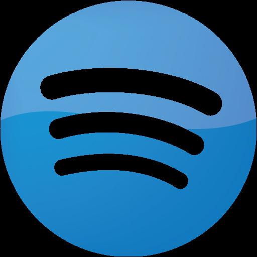 Web 2 blue 2 spotify icon  Free web 2 blue 2 site logo