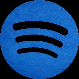 Cardboard blue spotify icon  Free cardboard blue site