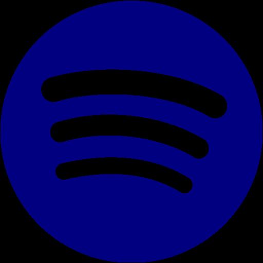 Navy blue spotify icon  Free navy blue site logo icons