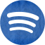 Blue paper spotify icon  Free blue paper site logo icons