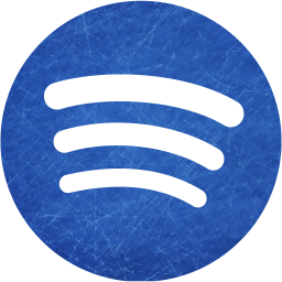 Blue and scratched spotify icon  Free blue and scratched