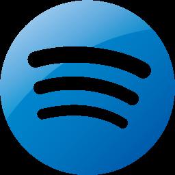 Web 2 blue spotify icon  Free web 2 blue site logo icons