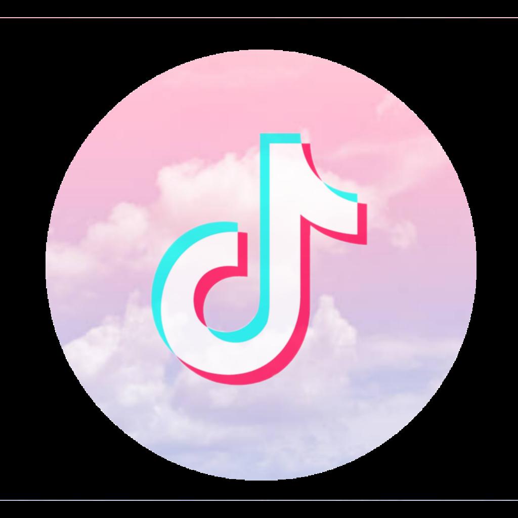 tiktok logo wolken clouds rosa pink blue blau weiß weiß