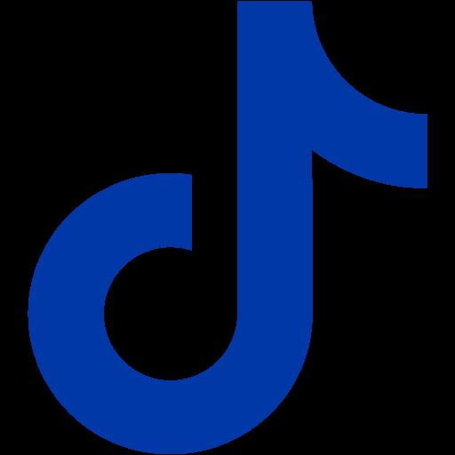 Royal azure blue tiktok icon  Free royal azure blue