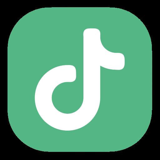 Icono Tiktok tik tok logo menta Gratis de Social Media
