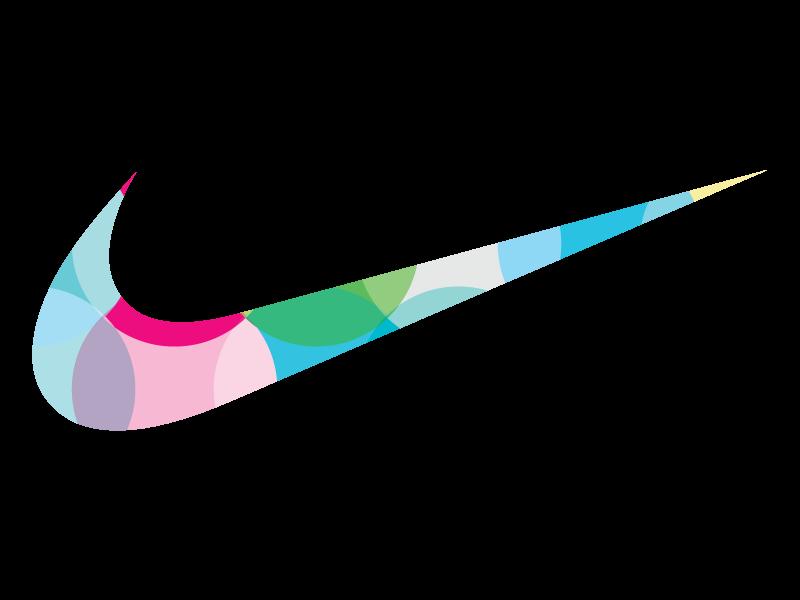 Nike logo  Colorful effect by Mounir  UIUX Designer on