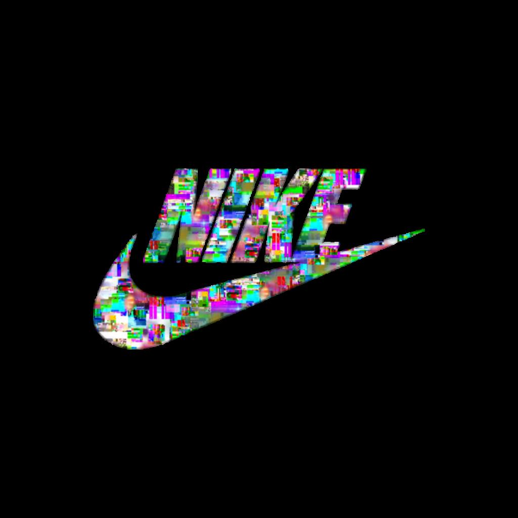 nike logo glitch cool tumblr tumblrstickers