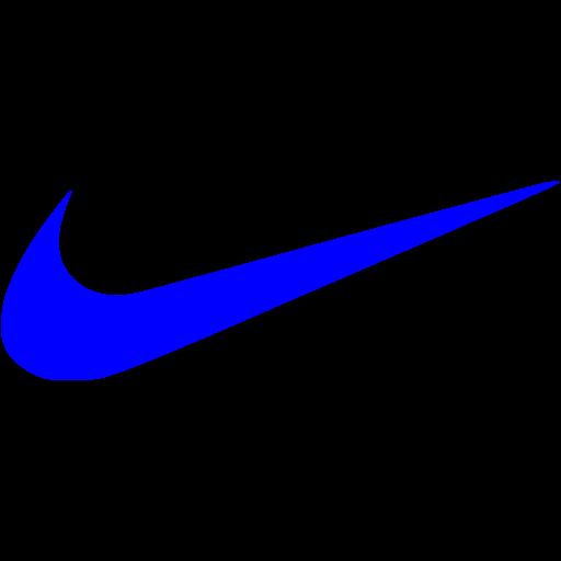 Blue nike icon  Free blue site logo icons