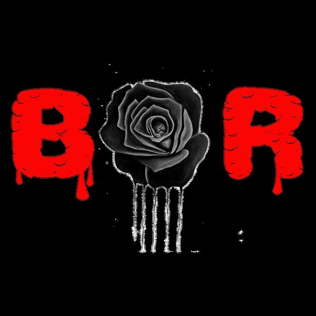 black rose logo stickers  Black Rose Undefeated