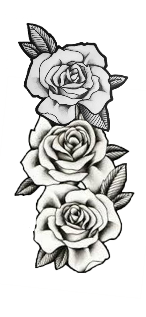 Roses  roses  overlay  graphic  tattoo  3 roses