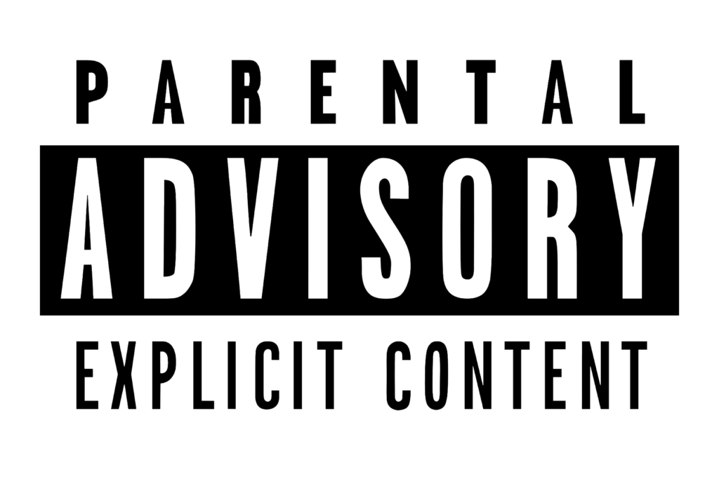 Parental Advisory White Transparent Logo