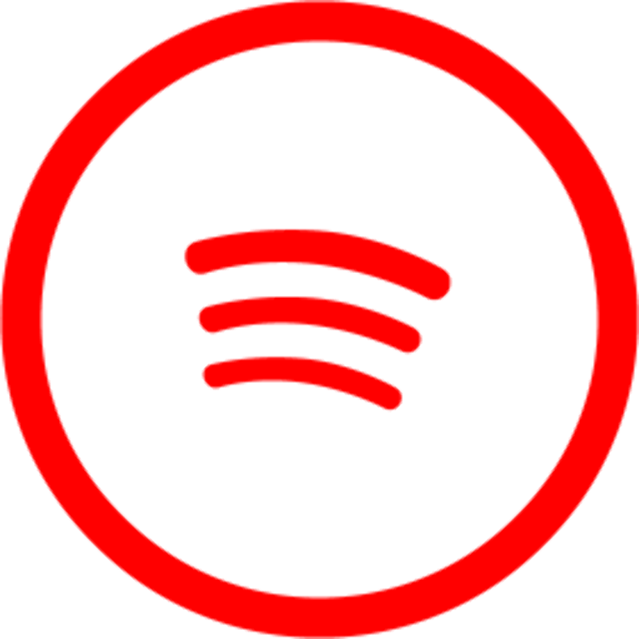 Download High Quality spotify logo transparent red