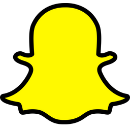 Snapchat Icon of Colored Outline style  Available in SVG