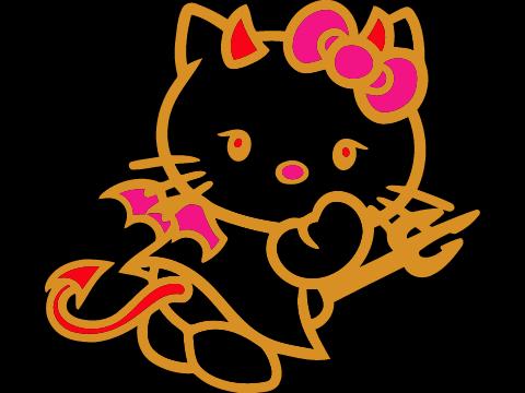 Hello Kitty Evil - Bilscreen - Evil Hello Kitty