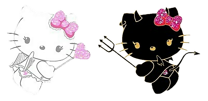 Step By Step Angel Hello Kitty Drawing  Hello Kitty HD