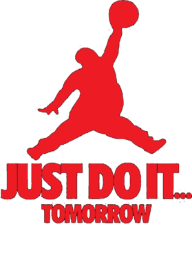 Just Do It Tomorrow Funny Jordan Nike Parody Logo Fan T Shirt - Funny Nike Logos