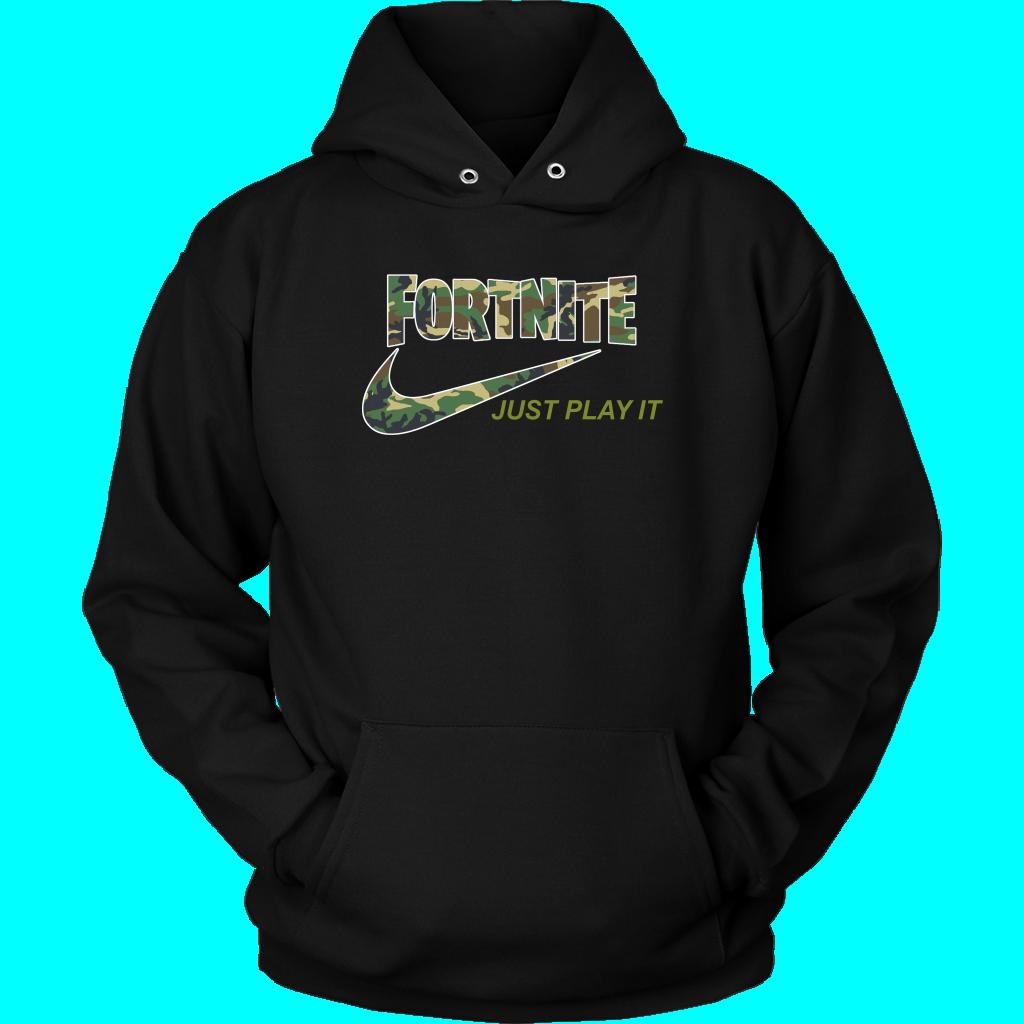 Fortnite  Nike Just Play It Camo Shirts Hoodie  Alottee
