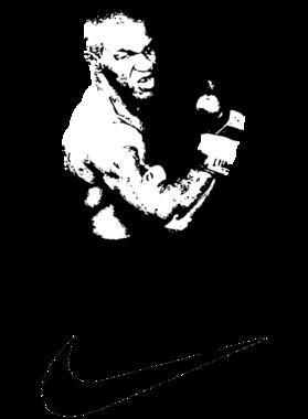 Mike Tyson Nike Parody Swoosh Funny T Shirt