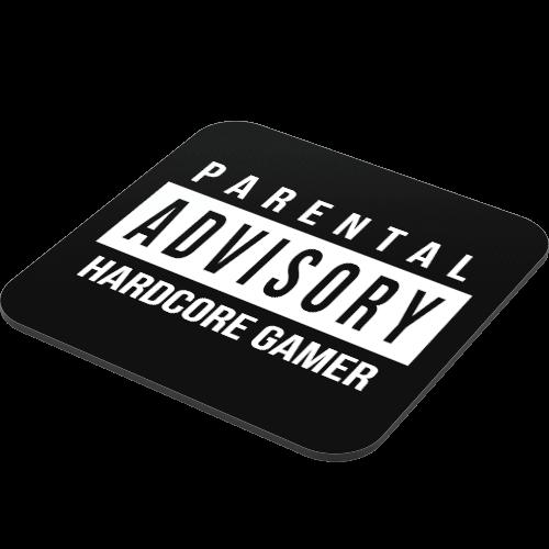 Hard Core Gamer Advisory Coaster  Just Stickers  Just