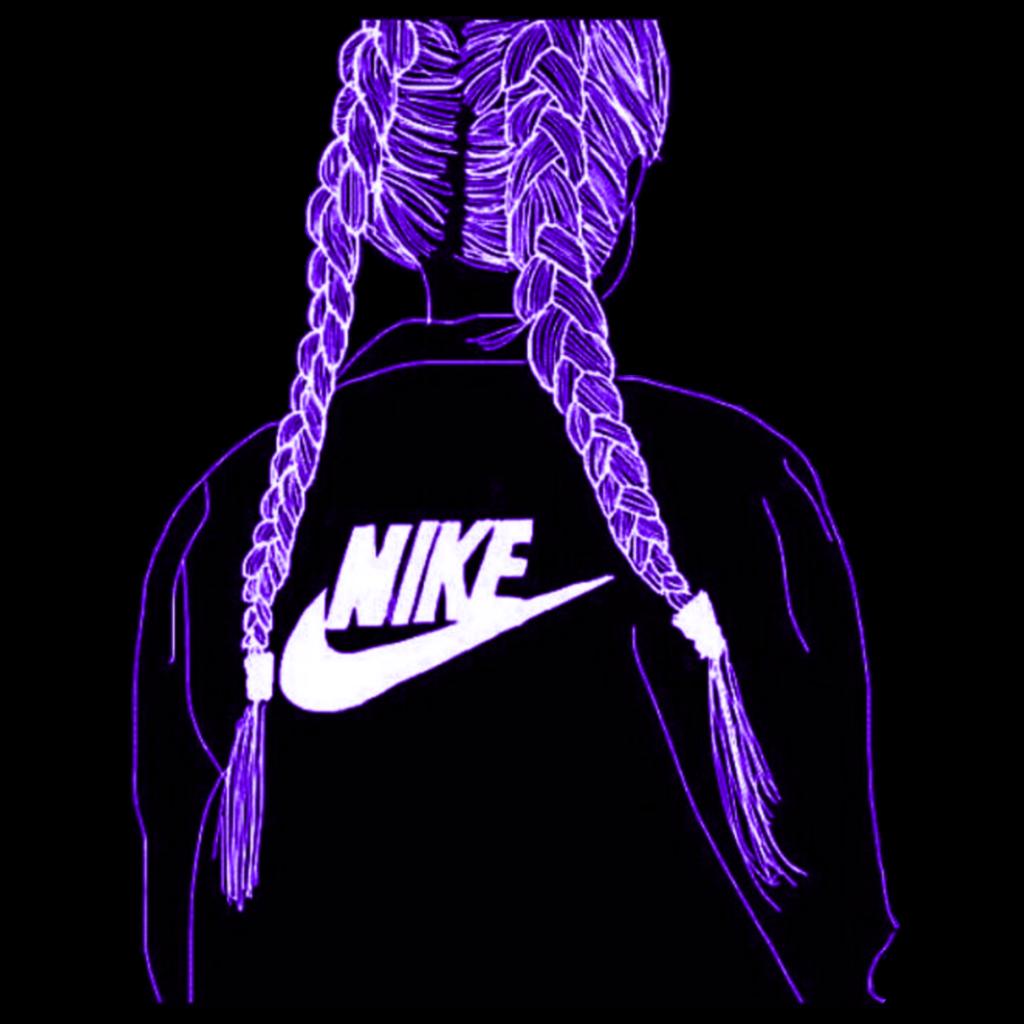freetoedit remix girl NIKE logo sticker