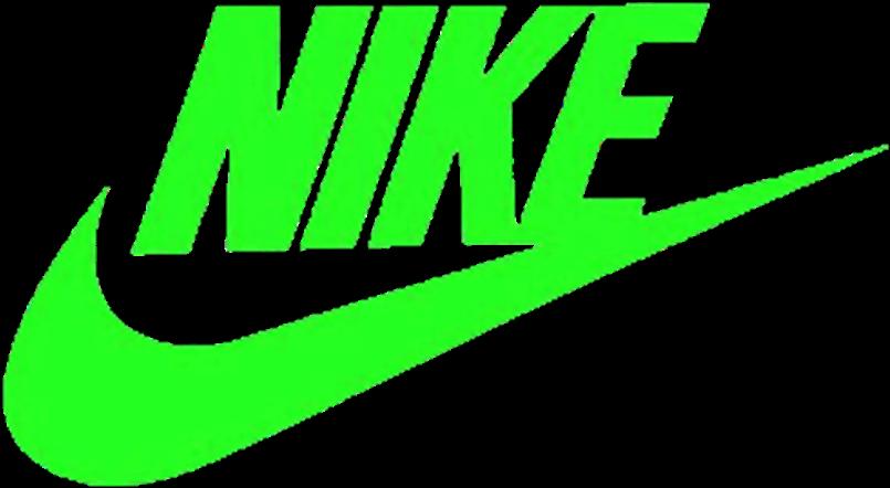 Nike Sticker  Transparent Green Nike Logo Clipart  Full