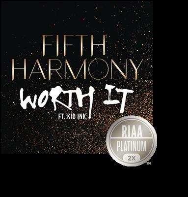 awardfifthharmonyworthit2xplat  RIAA