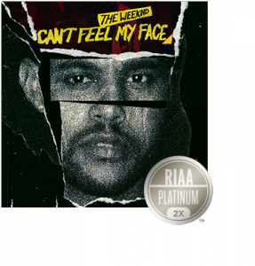 awardweekndface2xplat  RIAA