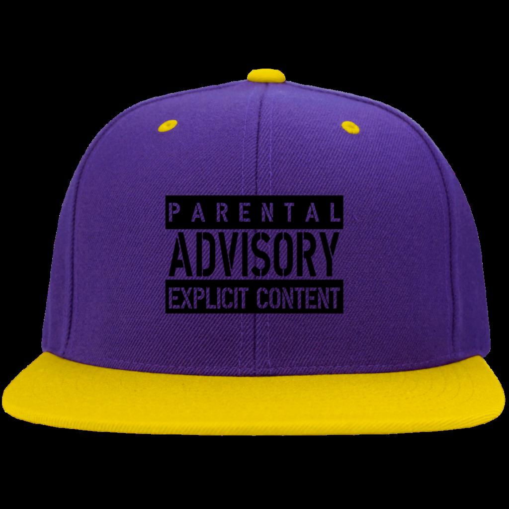 AGR parental advisory explicit W Snapback Hat  AGREEABLE