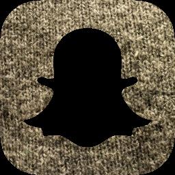 Grey wool snapchat icon  Free grey wool social icons