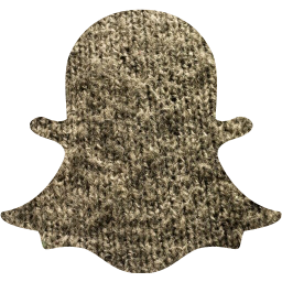 Grey wool snapchat 2 icon  Free grey wool social icons