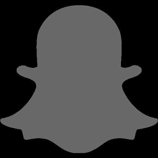Dim gray snapchat 2 icon  Free dim gray social icons