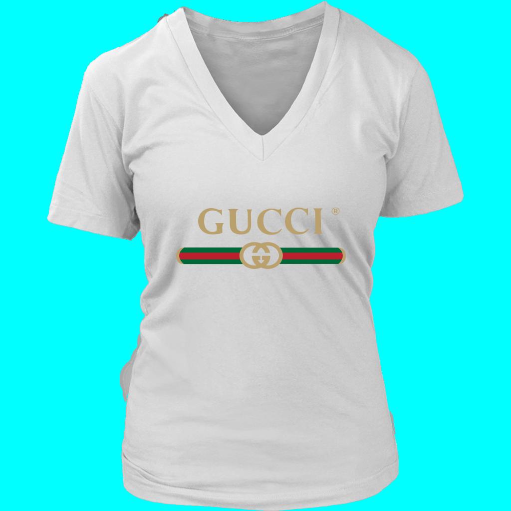 Gucci Logo 2021 Premium Womens VNeck  FLATTEECOM