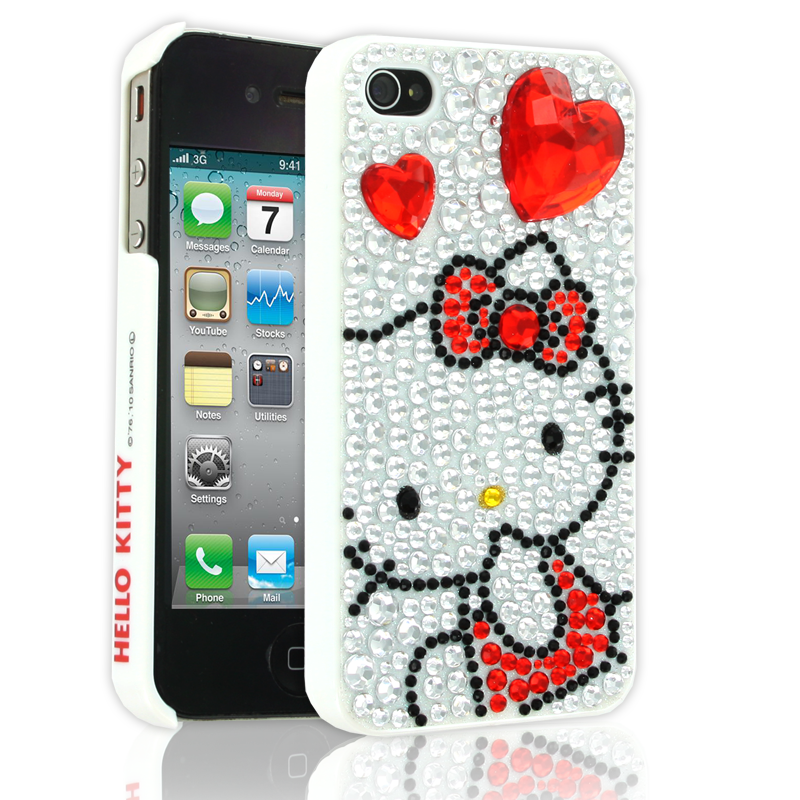 Hello Kitty Case for Apple iPhone 44S  Red  Hello kitty