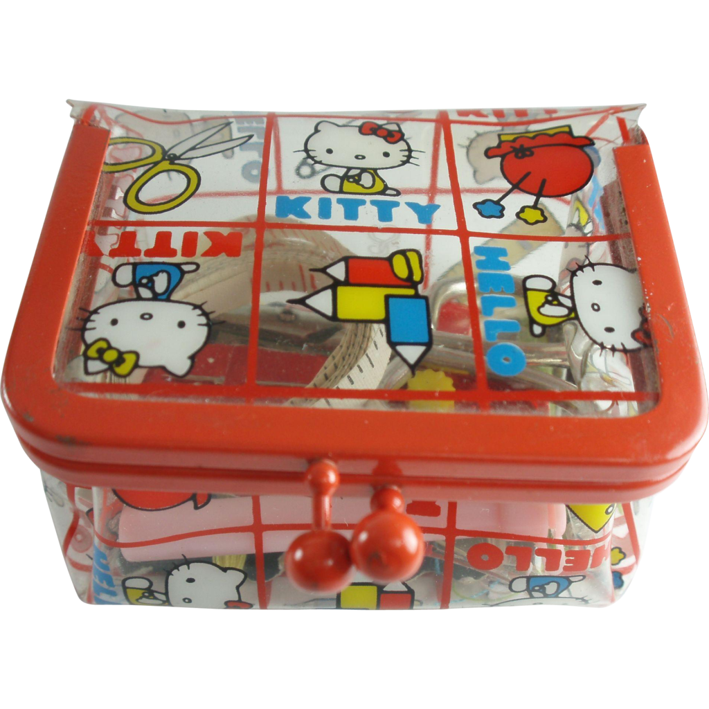 Hello Kitty Sewing Kit 1975 With images  Hello kitty