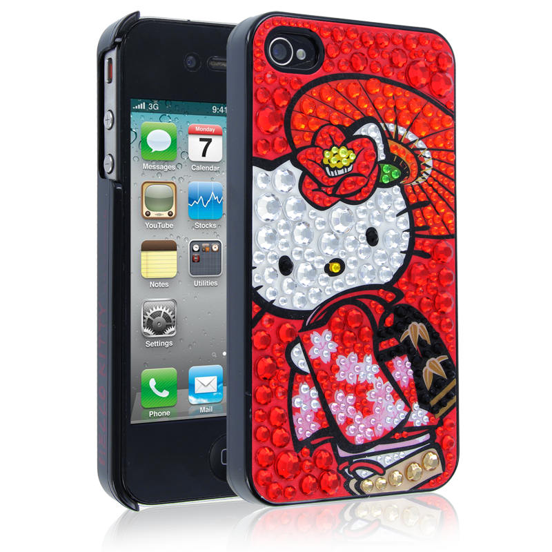 Hello Kitty Kimono Case for Apple iPhone 44S  Red