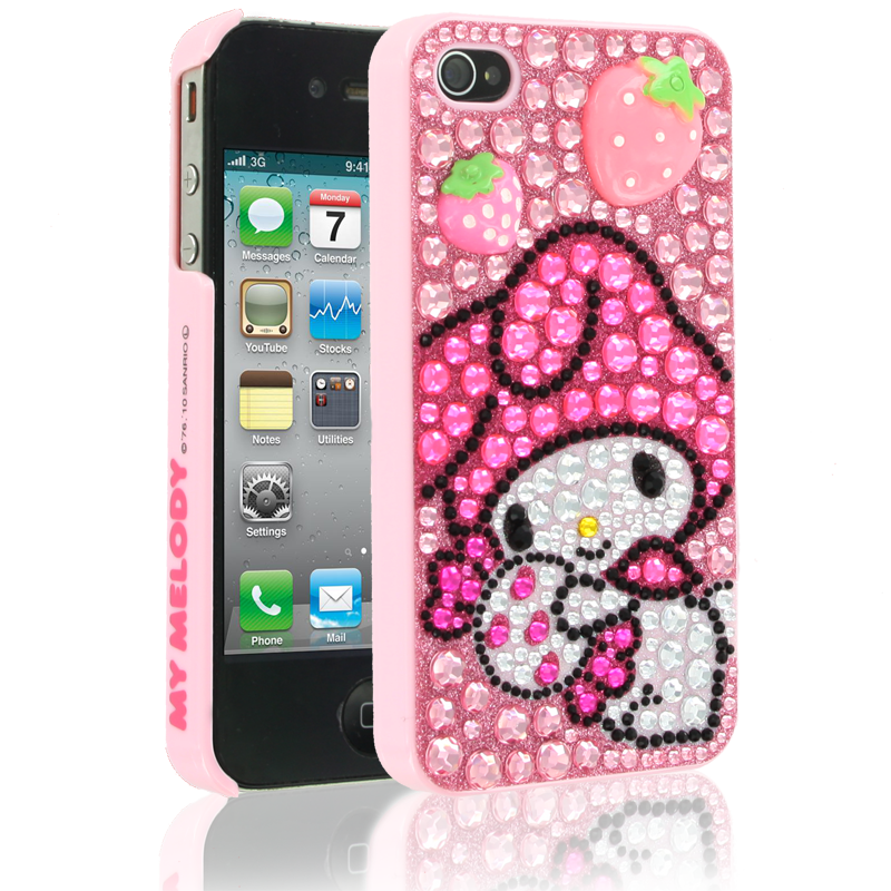 Hello Kitty My Melody Case for Apple iPhone 44S  Pink