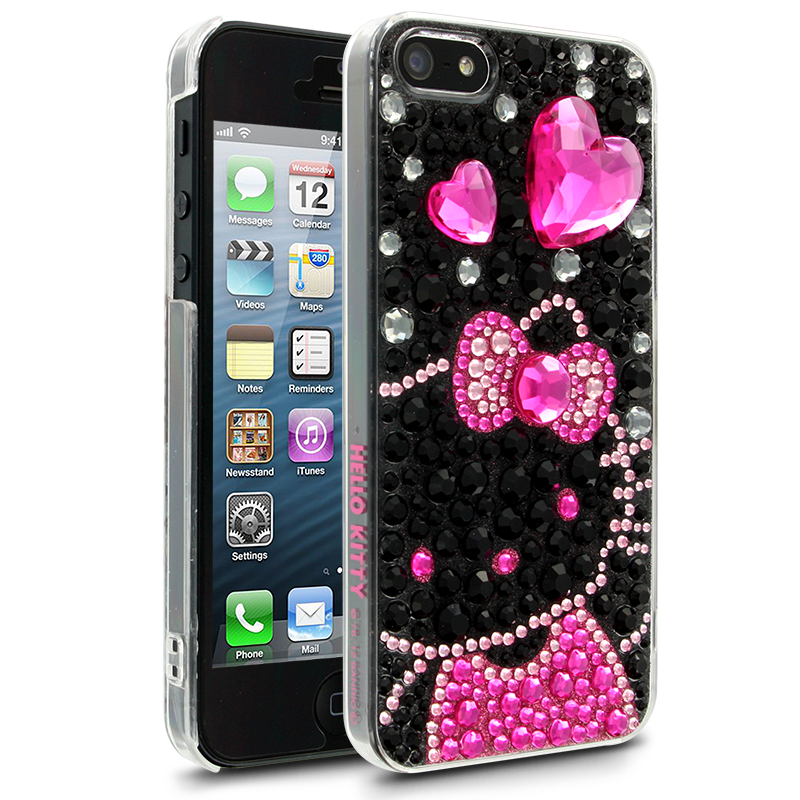 Hello Kitty iPhone 5 Case  Black Jewelry Case for Apple
