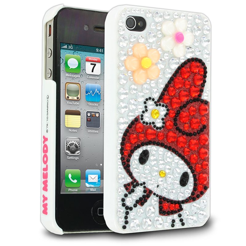 Hello Kitty My Melody Case for Apple iPhone 44S  Red